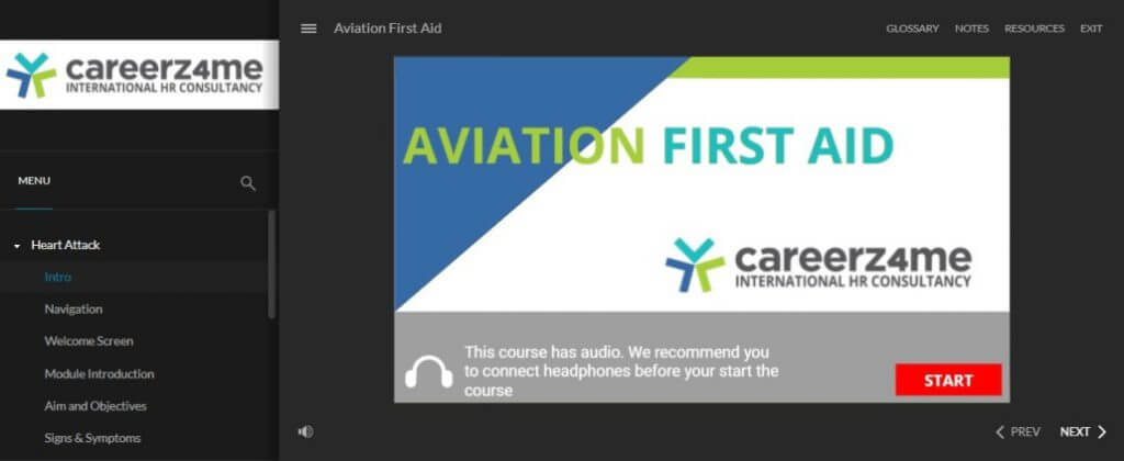 E-LEARNING: Mandatory Airline Training As Per Local Regulatory Authority: Sample- AVIATION FIRST AID