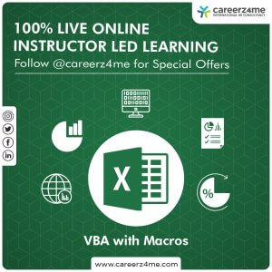 MS Excel Macros with VBA – 2010/2013/2016